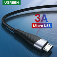 Ugreen USB 2.0 to Micro USB Cable 2.4A Fast Charge Data Cord Fr Samsung S7 S6 LG
