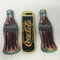Lot of 3 1990s Coca Cola Collector's Tin and Ink Pens Needs Refills