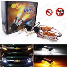 2Pcs Plug&Play Switchback Front Signal Parking LED + Resistor For Toyota RAV4
