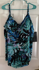 Tankini Bathing Suit Top Multi color blues Size 18W