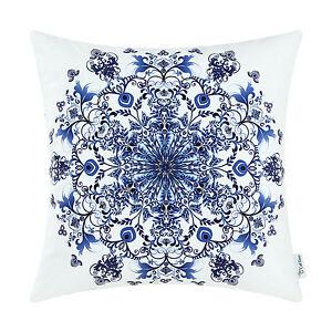 CaliTime Snowflake Florals Cushion Covers Pillows Shells Home Sofa Decor 50x50cm