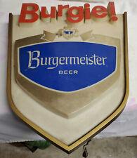 1960 BURGERMEISTER BEER Vintage Look REPLICA METAL SIGN BURGIE BEER BEACH PICNIC