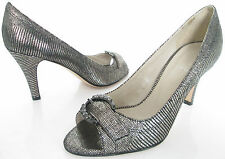 LOTUS SIZE 4 37 WOMENS SHINY BRONZE SNAKESKIN PEEPTOES COURT SHOES PUMPS HEELS