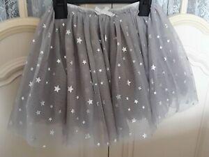 Next Signature Silver Star Layered Tutu Skirt 3-4 Years 104cm