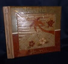 Hawaii Souvenir Photo Book Hand Made Leaf Album 10 Pages 17 x 14 x 1 1/2 inches
