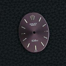 ROLEX Zifferblatt CELLINI 4110 purple burgundy DIAL CAL 1601 vintage Handwound