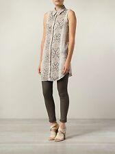 Haute Hippie Hhsp149133 Beaded Front Python Print Sleeveless Silk Tunic Top XS
