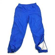 Vintage Sophistiqué Piste Pantalon Jogging Femmes Taille S Petite Sp Bleu Nylon
