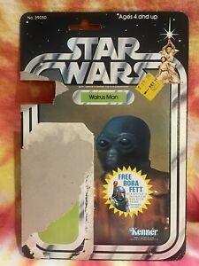 Walrus Man CARD ONLY 20 Back Star Wars Kenner Boba Fett Black Out