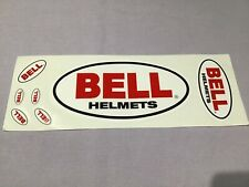 Vintage Sheet of x7 Bell Helmets Logo Stickers New Nos Og 1� 1-1/