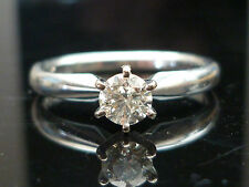 Stunning 14ct White gold 0.35ct diamond solitaire ring Fe6