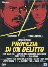 PROFEZIA DI UN DELITTO  DVD THRILLER