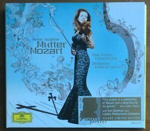 MOZART VIOLIN CONCERTOS ANNE-SOPHIE MUTTER DEUTSCHE GRAMMOPHON 2CD DIGIPAK ALBUM