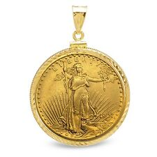 $20 St. Gaudens Gold Double Eagle Pendant - Diamond-Screw Top Bezel - SKU #63486