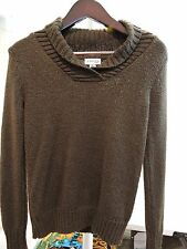St. John's Bay Acrylic Blend Thin-Med Thickness Shawl Neck Sweater - Sz- Small