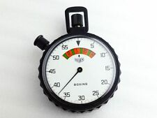Rare! Unused! HEUER Vintage Stop Watch Boxing w/ Strap Ref.652.947 EMS Shipping