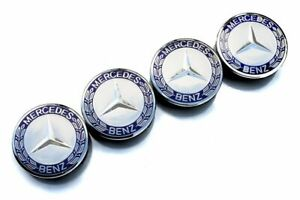 4x for Mercedes Benz 75mm Hubcaps Center Caps Wheel Rim Hub Emblem logo AMG C E