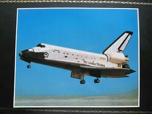 SPACE SHUTTLE COLUMBIA PHOTO CARD 8''x10'' 20x25 cm USA no post