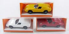 Set - 3 x Lamborghini Miura - rot gelb schwarz - IMU Euromodel 1:87 OVP [ST2]