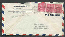 DATED 1953 COVER PREXY COIL #841 X 3 = 6c AIR MAIL RATE SCARCE SEE INFO