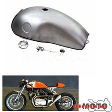 Steel Motors 2.6 Gallon Retro Titanium Gas Fuel Tank For Honda Suzuki Cafe Racer