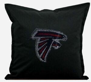 """Atlanta Falcons Cover Sofa Throw Pillow Case 18""""X18"""" Chair Couch Rhinestone"""