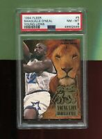 SHAQUILLE O'NEAL ORLANDO MAGIC 1994 FLEER NBA BASKETBALL YOUNG LIONS #5 PSA 8