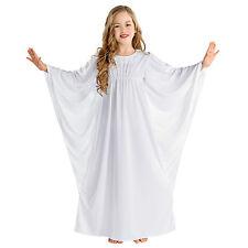 Engel Kostüm für Kinder Mädchen Engelskostüm Kleid Weihnachten Karneval weiß