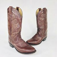 Dan Post Mens Size 9.5 D Antique Brown Milwaukee Leather Western Boots DP2111R