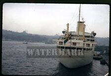 Apr 1970 kodachrome photo slide  ship MS Gripsholm SAL  Instanbul Turkey