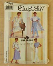 Simplicity Jiffy Wardrobe 5 Easy Pieces sewing pattern. No 7881