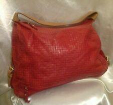 grand sac à main femme rétro chic en cuir tressé rouge designer GIANNI NOTARO