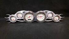 6 GAUGE STREET ROD FLAME STYLE DASH CLUSTER SHARK