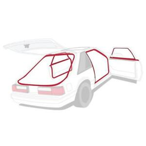 87-1993 FORD MUSTANG WEATHERSTRIP KIT COUPE/HATCHBACK $ FREE SHIPPING LOWER 48!