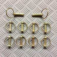 8mm X 35mm con anillo abatible Pasadores Lynch Pins pieza clave del remolque de tractor máquina x10