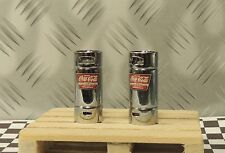 """(2) Coca-Cola Syrup Tanks"""" Stainless Steel"""" + Wood Pallet 1/24 (G)Scale Diorama"""