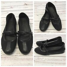Womens COLE HAAN Nike Air Black Leather Stretch Mary Jane Shoes Size 9 B