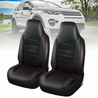 2X Universal Front Car Seat Covers Cushions Protector Washable Pu Leather Black