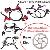 ZOOM Mountain Bike Hydraulic Disc Brake Set Front & Rear 750/1350mm Brake Disc