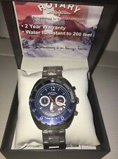 Rotary Men's Stainless Sports Chronograph Watch NEW