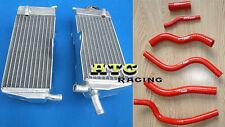 For HONDA CR125R CR125 1990-1997 94 95 96 aluminum radiator & silicone hose RED