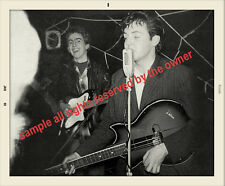THE BEATLES VERY EARLY NIGH CLUB SNAPSHOT JAN 60  OF PAUL MCCARTNEY AND GEORGE
