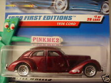 1999 #1 FE Hot Wheels 1936 CORD #649∞ variant dark red; dome ✰ First Editions