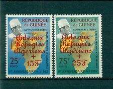 MAPPE - MAP GUINEA 1962 Pro Algerian Refugee a Red