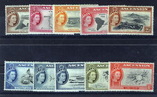 ASCENSION 1956 DEFINITIVES SG57/66 BLOCKS OF 4 MNH