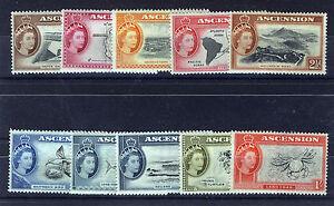 ASCENSION 1956 DEFINITIVES SG57/66 BLOCKS OF 4 MNH