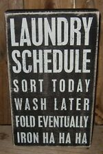 LAUNDRY ROOM Wood Sign*Black & White*Primitive Farmhouse/French Country Decor