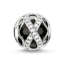 New THOMAS SABO Sterling Silver Karma Infinity Onyx/Black CZ Bead K0174 £98
