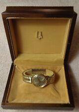 Vintage Bulova Accutron N2 Tuning Fork Mens Wrist Watch 10K G.F. In Wood Case