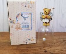 Rare Enesco Cherished Teddies Angel Bell 906530 Collectible Figurine Mint In Box
